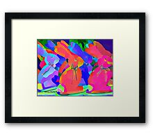 Parade of the Psychedelic Bunnies Framed Print