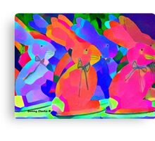 Parade of the Psychedelic Bunnies Canvas Print
