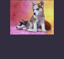 Husky Puppies - Canine Dog Painting T-Shirt