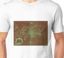 World Map (1778) Red & Light Green Unisex T-Shirt