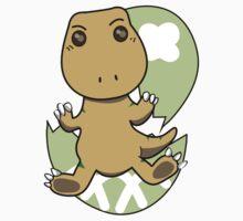 Little Tyrannosaurus-Newborn Baby Kids Tee