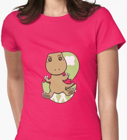 Little Tyrannosaurus-Newborn Baby Womens Fitted T-Shirt
