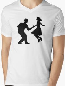 Swing dancing Mens V-Neck T-Shirt