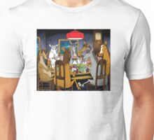 Horses Playing Poker Unisex T-Shirt