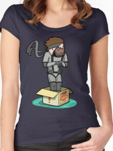 He thinks he's hiding... Women's Fitted Scoop T-Shirt