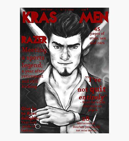 Razer Cover Kras Men Magazine Photographic Print