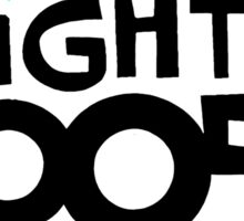 The Mighty Boosh – Black Writing & Mask Sticker