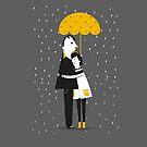 Hugging under the rain by mjdaluz