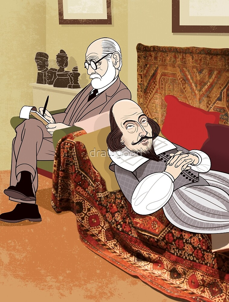 Freud analysing Shakespeare by drawgood