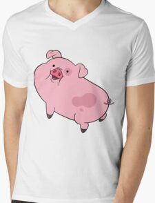 Waddles Mens V-Neck T-Shirt