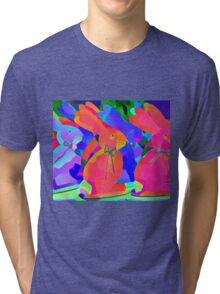 Parade of the Psychedelic Bunnies Tri-blend T-Shirt