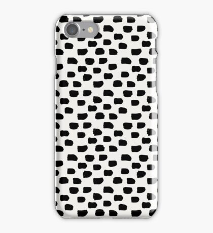 Black Brush Strokes iPhone Case/Skin