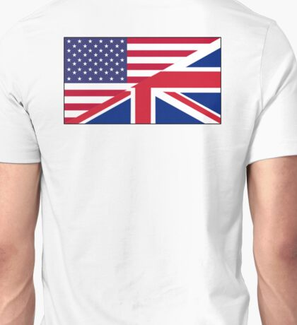 ANGLO, AMERICAN, FLAG, USA, America, Great Britain, Union Jack, Stars & Stripes Unisex T-Shirt
