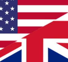 ANGLO AMERICAN FLAG, USA, America, Great Britain, Union Jack, Stars & Stripes Sticker