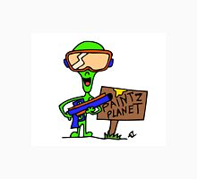 Little Greenie the Alien Discovers Paintball! Unisex T-Shirt