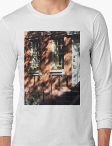 Manhattan NY - Window Boxes Greenwich Village Long Sleeve T-Shirt