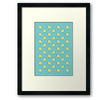 Busy Chicks - Aqua Framed Print