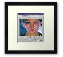 dicaprio crying  Framed Print