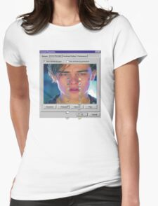 dicaprio crying  Womens Fitted T-Shirt