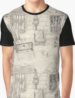 The Drawing Room In The Medieval Castle Graphic T-Shirt