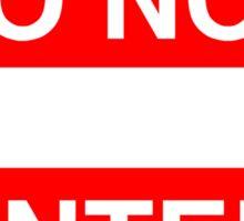 DANGER, WARNING, DO NOT ENTER, SIGN, ROAD SIGN, Cars, motoring Sticker