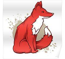 Fire fox Poster