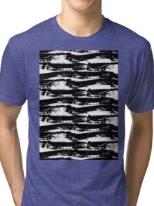 Black Brush Strokes Tri-blend T-Shirt
