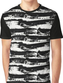 Black Brush Strokes Graphic T-Shirt