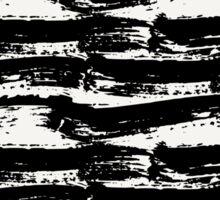 Black Brush Strokes Sticker