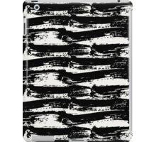 Black Brush Strokes iPad Case/Skin