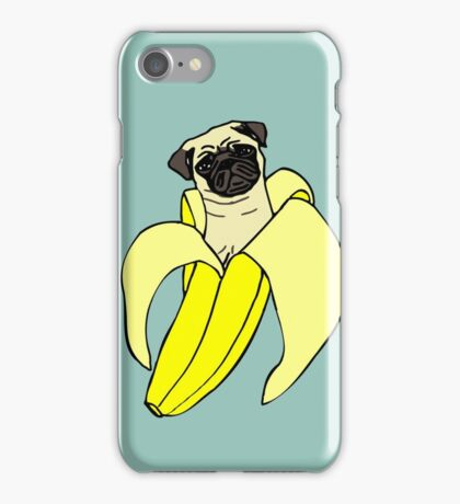 banana pug iPhone Case/Skin
