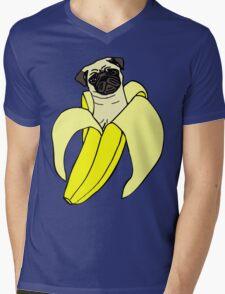 banana pug Mens V-Neck T-Shirt