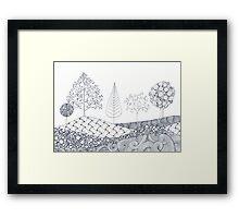 Tree Scene Framed Print