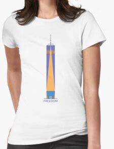 FREEDOM - T-Shirt Freedom Tower NYC Womens Fitted T-Shirt