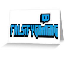 Falsify Gaming Twitch Font Logo - Blue Greeting Card