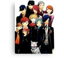 Persona 3 Portable Cast Design Canvas Print
