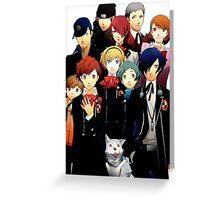Persona 3 Portable Cast Design Greeting Card