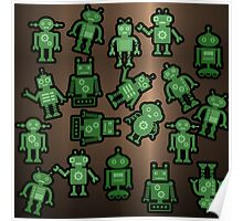 Lost robots Fiction Futuristic Graphic T-shirt Poster