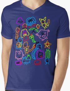 Poorly Drawn Pokemon Mens V-Neck T-Shirt