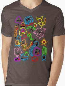 Poorly Drawn Pokemon Mens V-Neck T-Shirt