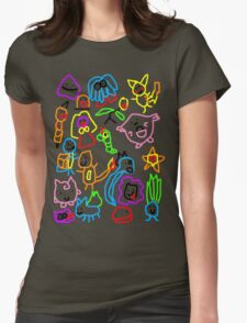 Poorly Drawn Pokemon Womens Fitted T-Shirt