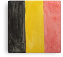 Belgium National Flag  BelgianTricolore Black, Yellow and Red Canvas Print