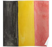 Belgium National Flag  BelgianTricolore Black, Yellow and Red Poster