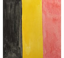 Belgium National Flag  BelgianTricolore Black, Yellow and Red Photographic Print