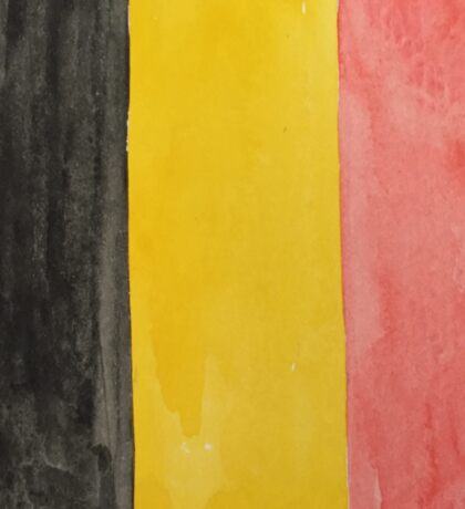 Belgium National Flag  BelgianTricolore Black, Yellow and Red Sticker