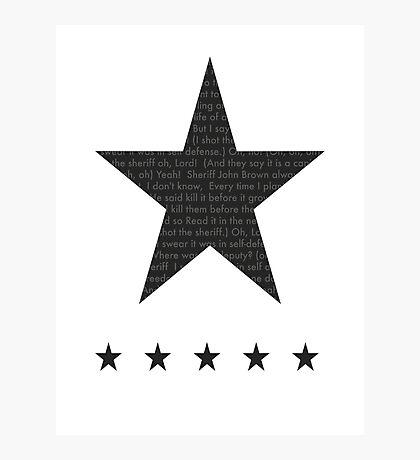 Bob marley - I Shot the Sheriff lyrics Photographic Print