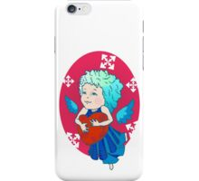 Cute angel with red heart iPhone Case/Skin
