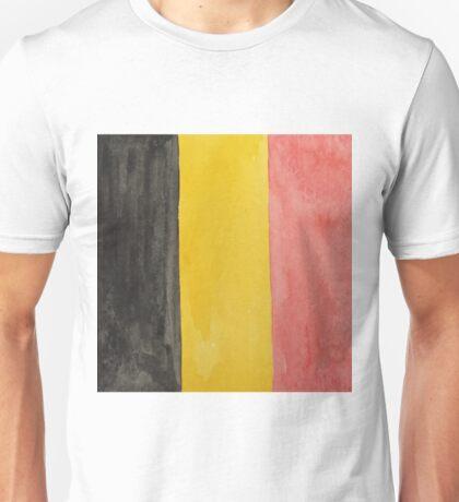Belgium National Flag  BelgianTricolore Black, Yellow and Red Unisex T-Shirt