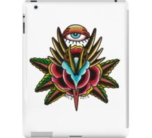 All Seeing Rose on White iPad Case/Skin