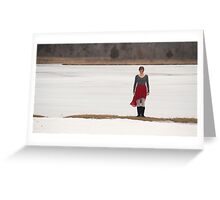 Girl in the Red Skirt 2 Greeting Card